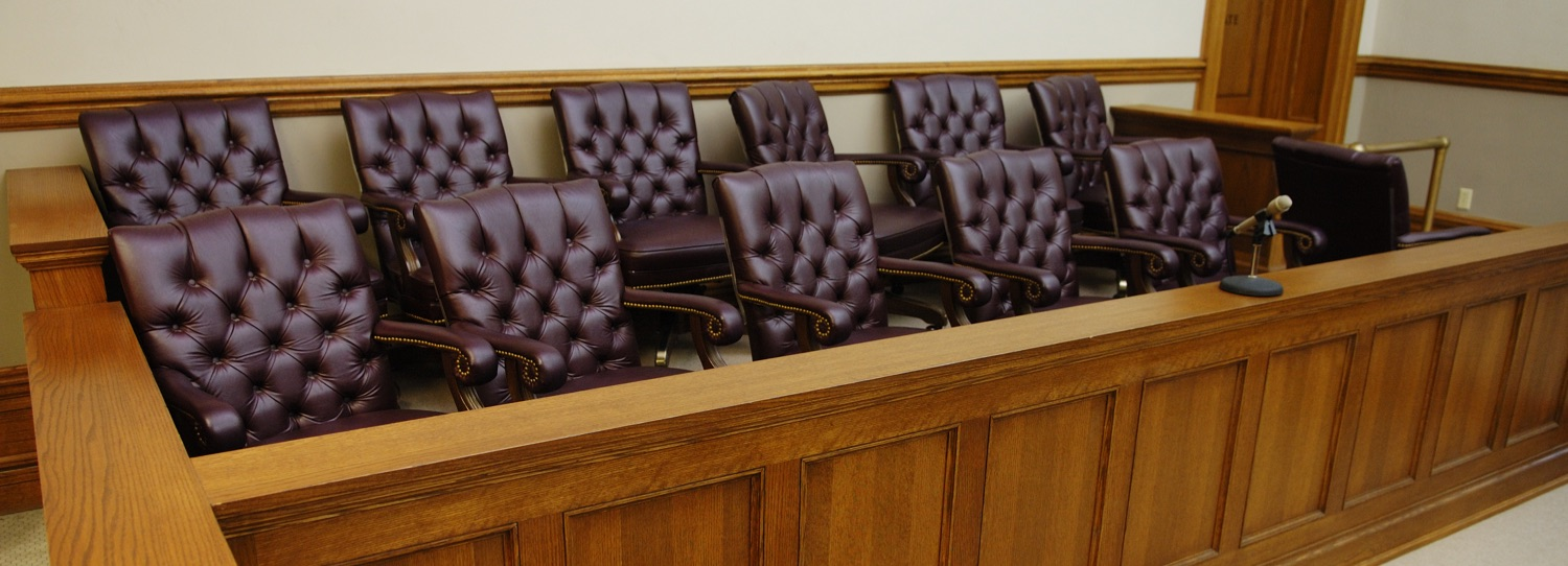 photo of jury box